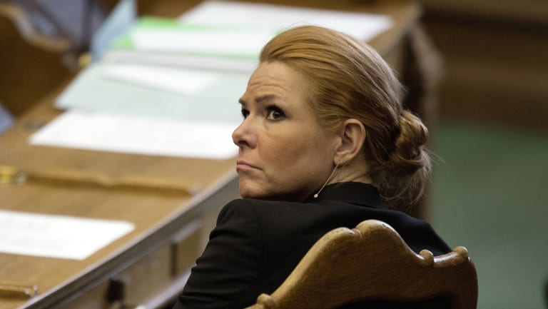 Denmark's Minister of Integration from the Liberal Party Inger Stoejberg