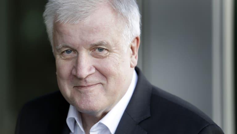 German Interior Minister and chairman of the German Christian Social Union (CDU), Horst Seehofer,