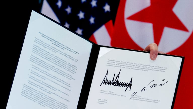 The letter, signed by US President Donald Trump and North Korean leader Kim Jong-un, does not specify what the commitments are.