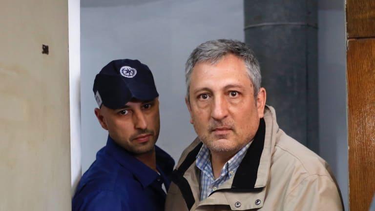 Nir Hefetz, a longtime media adviser to Benjamin Netanyahu, in court in Tel Aviv.