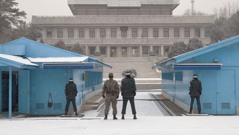 The Joint Security Area was created in 1953 as a neutral area inside the Demilitarised Zone.