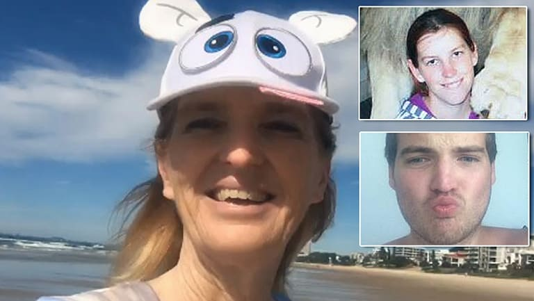 Maree Mavis Crabtree is accused of the murders of her children, Erin (inset top) and Jonathan (inset bottom).