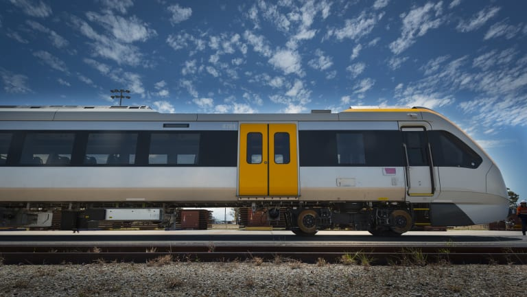 The first three New Generation Rollingstock trains will be rolled out, with the first two hitting the tracks on Monday.