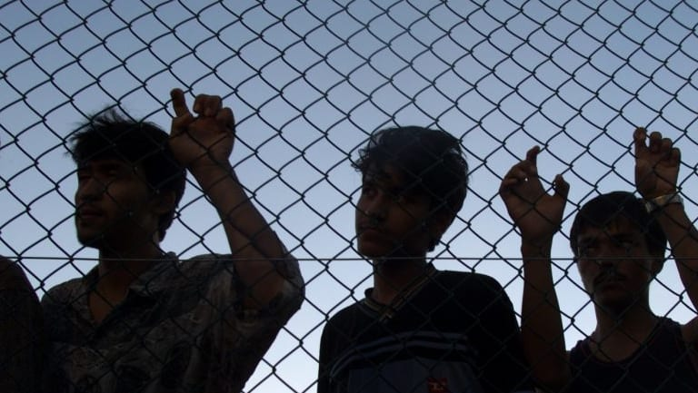 Asylum seekers in Nauru.