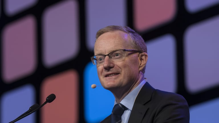 RBA Governor Philip Lowe speaking at the AFR's Business Summit on Wednesday.