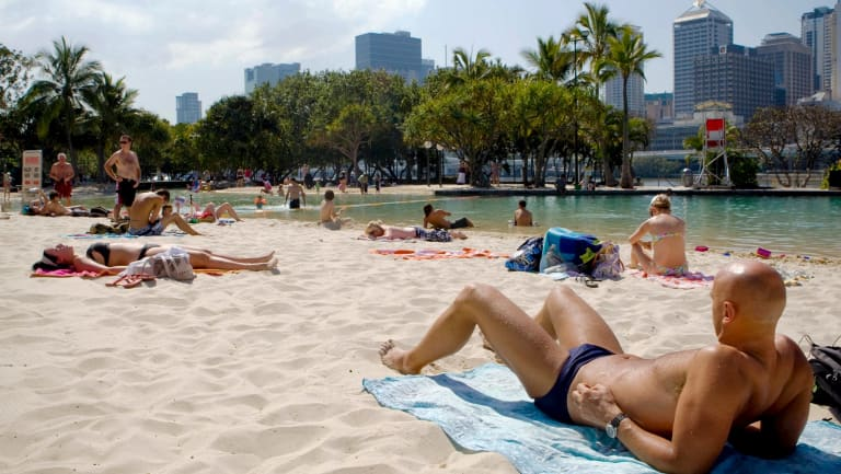 Brisbane City hit 33 degrees by 8.30am on Christmas Day