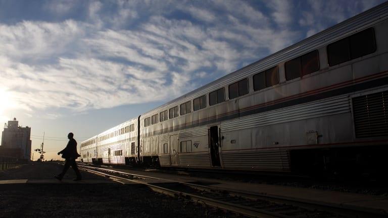 A California Zephyr train runs between Chicago and San Francisco.