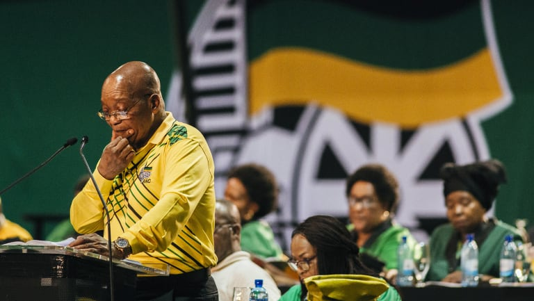 South African President Jacob Zuma at the Congress.