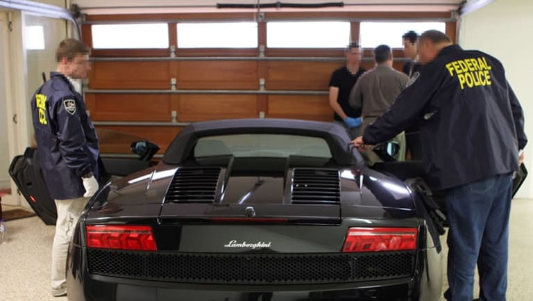 Authorities seized a Lamborghini and other luxury cars after Michael Issakidis was charged.