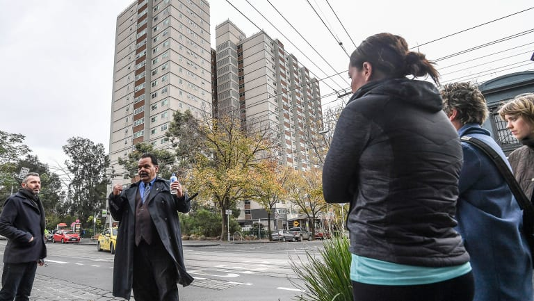 Jason Russell leads a 'community encounter' walking tour in Melbourne's inner north.