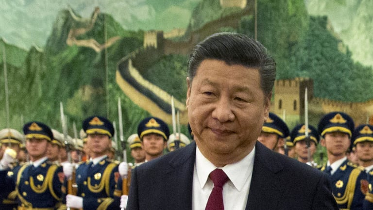 President Xi Jinping inspecting the troops in January.