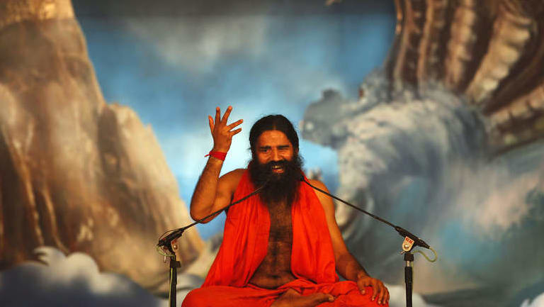 Ramdev rose to fame in India from appearances on TV, where he demonstrated the cobra, the downward dog and hundreds of other yoga poses.