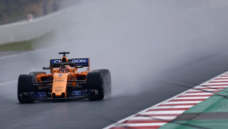 McLaren had car troubles on Tuesday in Barcelona.