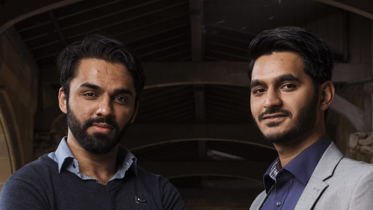 Naveed Ahmed, 25 and , on right, and Musawer Ahmed Bajwa, 24, are two refugees who are organisng another 1800 people to raise funds for Red Cross in March.