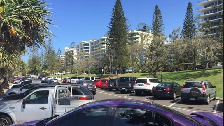 Car parks along Mooloolaba's beach may finally move, but the old caravan park is to become a temporary car park.