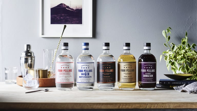 Four Pillars gin range.