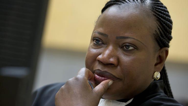 Prosecutor Fatou Bensouda at the International Criminal Court in The Hague, Netherlands.