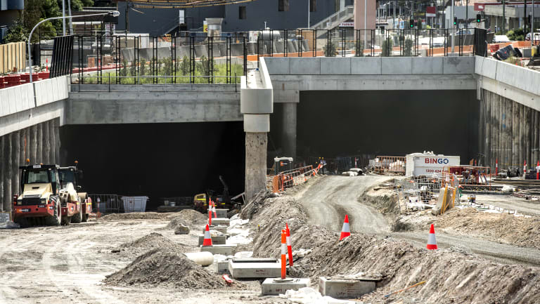 Parramatta Road at Ashfield showing the new Westconnex Tunnel.