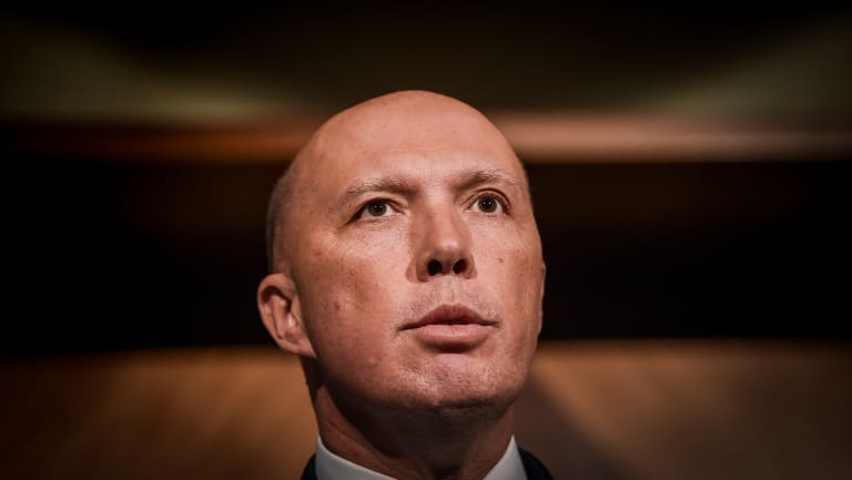 Immigration, Border Protection and Home Affairs Minister Peter Dutton.