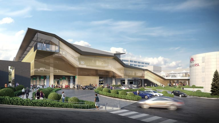 An artist's impression of the $100 million theatre being built by Rooty Hill RSL.