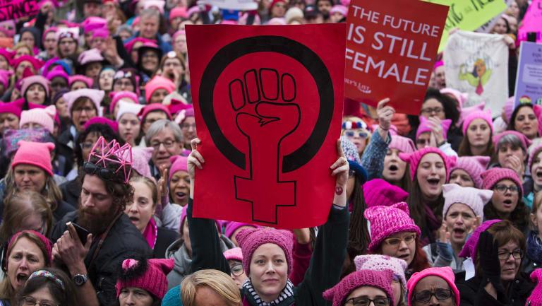 The Women's March in Washington, January 21, 2017.