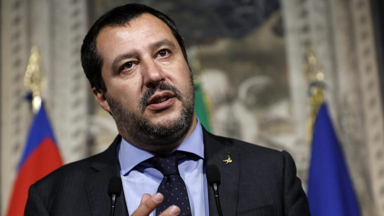 Italy's hardline Interior Minister Matteo Salvini has promised to curb immigration.
