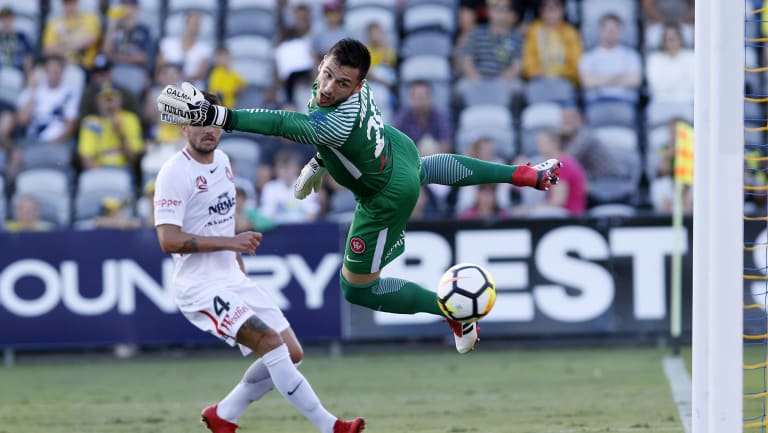 Staying put: Wanderers' goalkeeper Vedran Janjetovic signs four-year contract with the club.