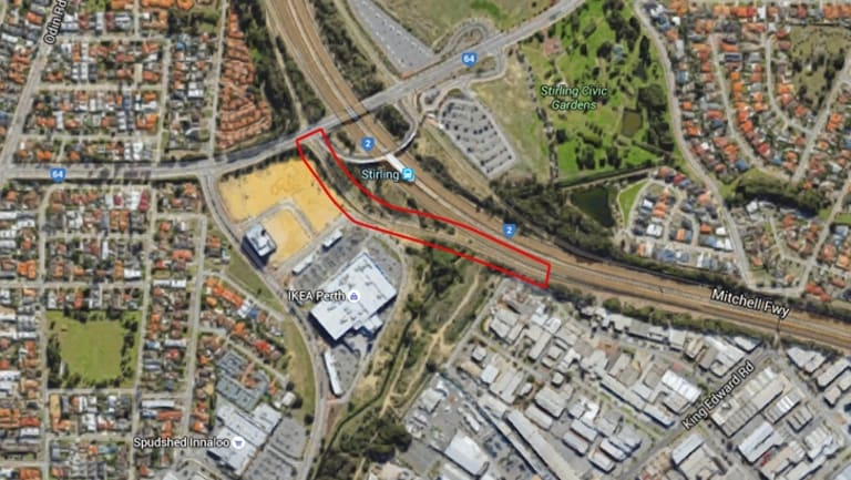 The Cedric Street off-ramp, which is usually a car park on Thursday nights and weekends.