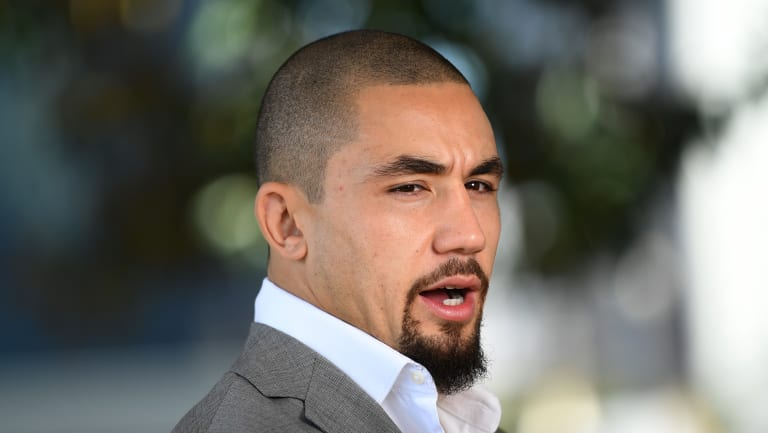 Ready to fight: Robert Whittaker's belt won't be on the line after Yoel Romero failed to make weight.