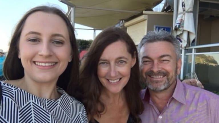 Karen Ristevski with husband Borce and daughter Sarah.