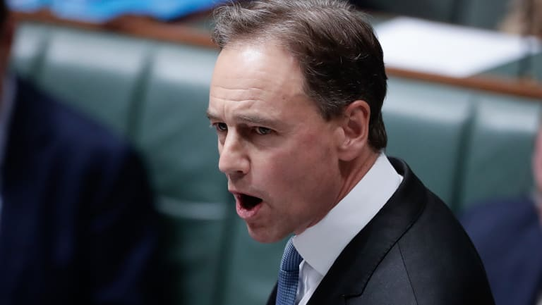 Health Minister Greg Hunt in question time.