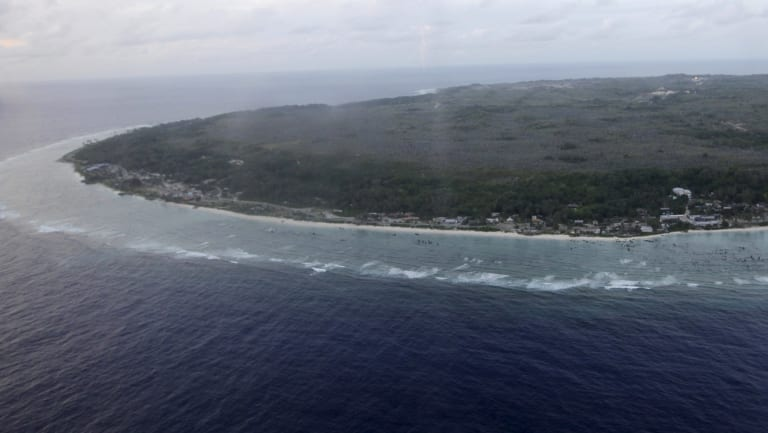 Nauru from above.