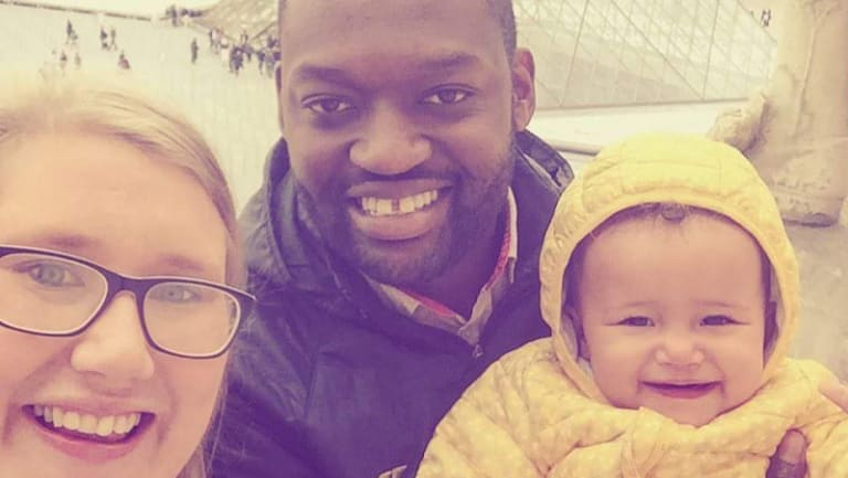Claire Penno with her husband Ngoni and their daughter Anaishe.