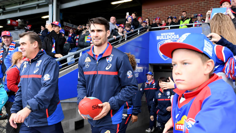 Bulldogs captain Easton Wood is back to face the Crows.