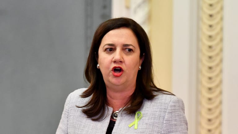 Premier Annastacia Palaszczuk has introduced a bill banning political donations from property developers.