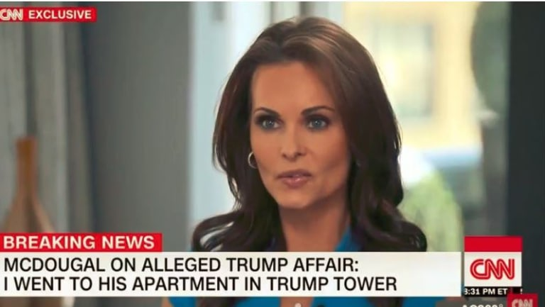 The National Enquirer has been accused of buying, and then killing off, a story about Trump's affair with former Playboy model Karen McDougal.