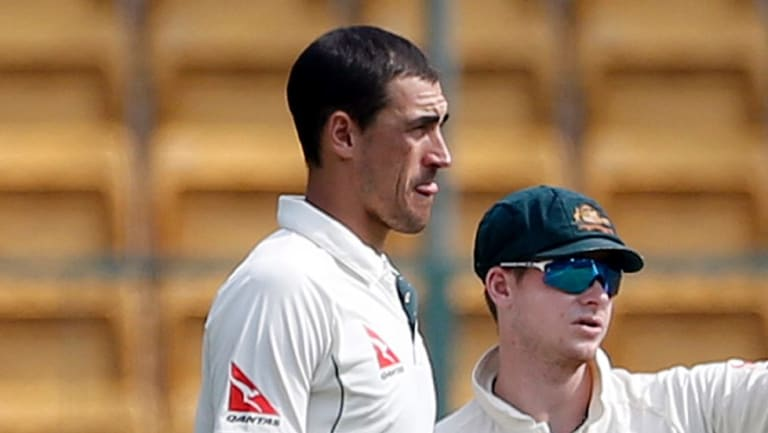 Difficult time: Mitchell Starc said events in South Africa had put a strain on his relationship with skipper Steve Smith.
