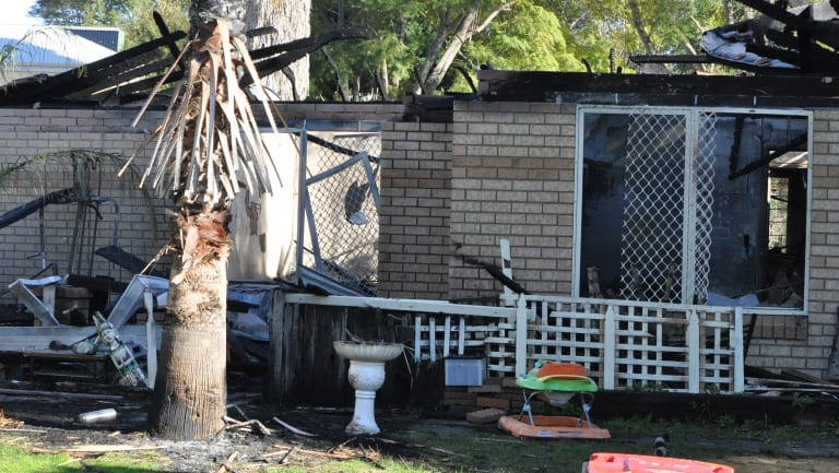 The fire caused extensive damage to the home.