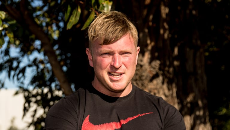 Blair Cottrell, leader of the United Patriots Front in January.