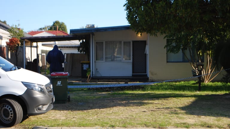 The house where the body of the man was found.
