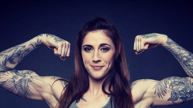 Gloves off: Megan Anderson faces Ronda Rousey's destroyer Holly Holm.