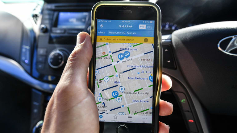 New apps such as UbiPark find and compare available car spots.