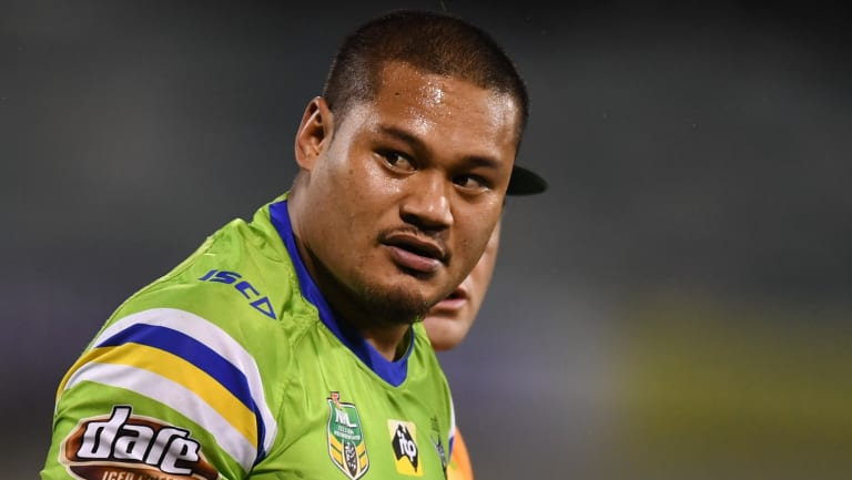 Joey Leilua went off with a head knock after just two minutes.