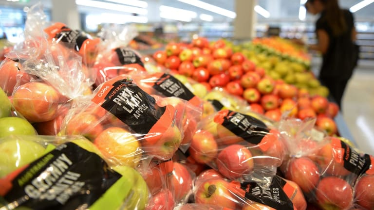 Just produce, please: Coles has joined Woolworths in vowing to reduce the level of plastic packaging of fruit and veg.