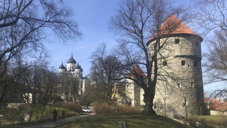 Nice - if a bit fresh - in northern spring, Tallinn, Estonia.