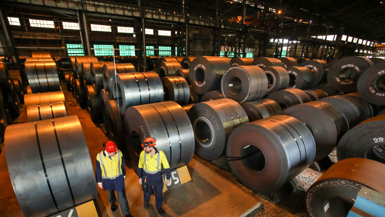 BlueScope exports 300,000 tonnes of hot rolled coil to the US a year.