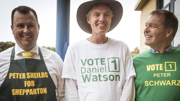 Candidates Peter Shields, Daniel Watson and Peter Schwarz met at the Shepparton Salvation Army as part of the National Party community preselection for candidates in Shepparton.