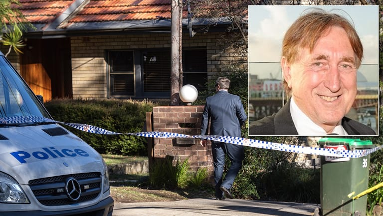 The scene of the shooting in Normanhurst, and John Edwards, inset.