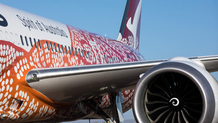 Qantas' first Perth to London flight