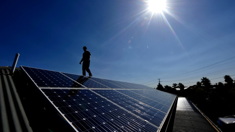 The number of solar panel installations is rising across Australia.